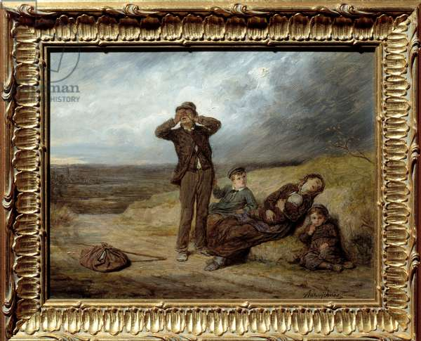 Away from any help. Painting by Antony Serres (1828 - 1898), 19th century. oil on canvas. Meaux, Bossuet Museum