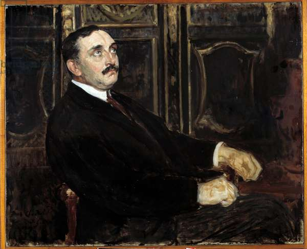 Portrait of Paul Claudel (French writer, 1868-1955), (oil on canvas)