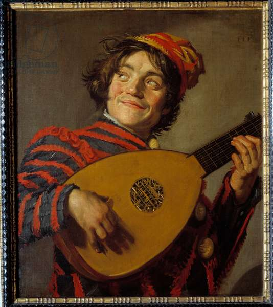 The lute jester. Painting by Frans Hals (1580-1666), 1626. Oil on canvas. Dim: 0.70 X 0.62m.