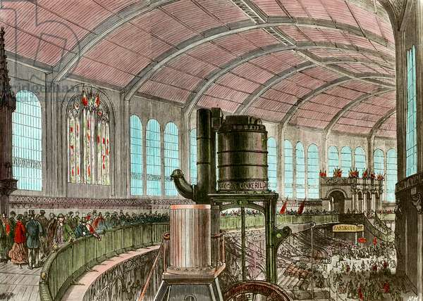 The Eiffel Machine Gallery at the 1867 Universal Exhibition Engraving of the 19th century