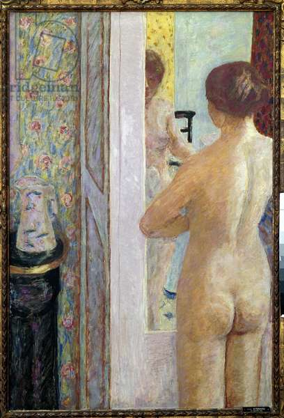 The toilet Woman naked from the back. Painting by Pierre Bonnard (1867-1947) 1908 Sun. 1,19 x 0,79 m. Paris, Musee d'Orsay