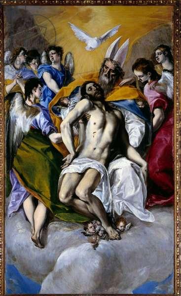 The Trinity Painting by Domenikos Theotokopoulos Dit El Greco (1540-1614) 1577 Sun. 3x1,79 m Madrid, Prado Museum