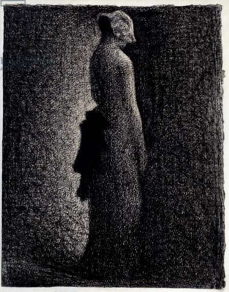 The Black Knot Pencil drawing by Georges Seurat (1859-1891) Around 1882 Dim. 0,31 x 0,23 m Paris. Orsay Museum