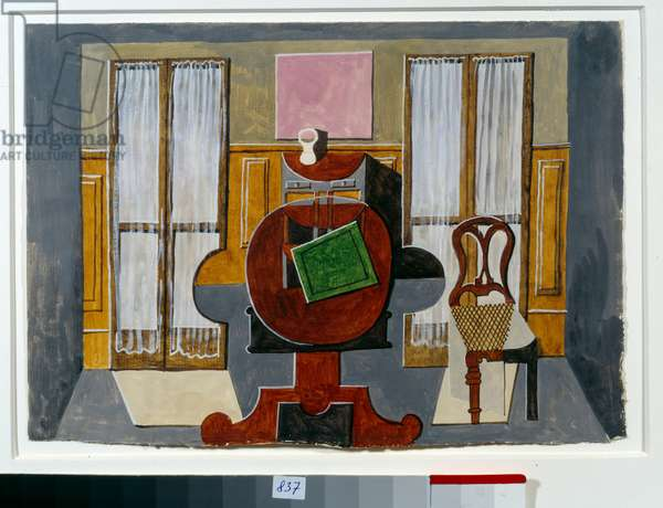 The artist's dining room, rue de la Boetie. Painting by Pablo Picasso (1881-1973), 1919. Gouache and Chinese ink. Dim: 0,22 x 0,31m. Paris, Musee Picasso.