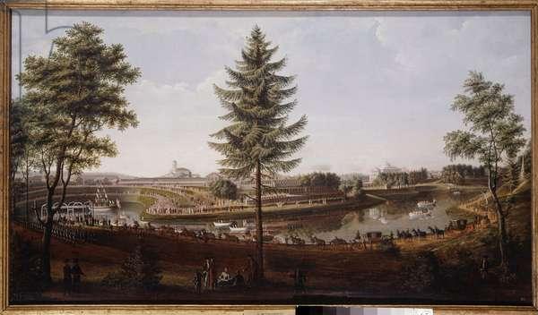 Feast at Pavlovsk Palace, summer residence of Tsar Paul I Painting of Metterleir (1750-1825) 1790 Museum of History, Saint Petersburg