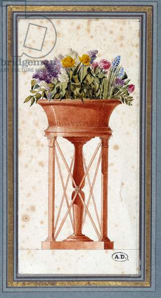 Project for a mahogany garden by Charles Percier (1764-1836), architect and decorator. Watercolour. Paris. Decorative Arts
