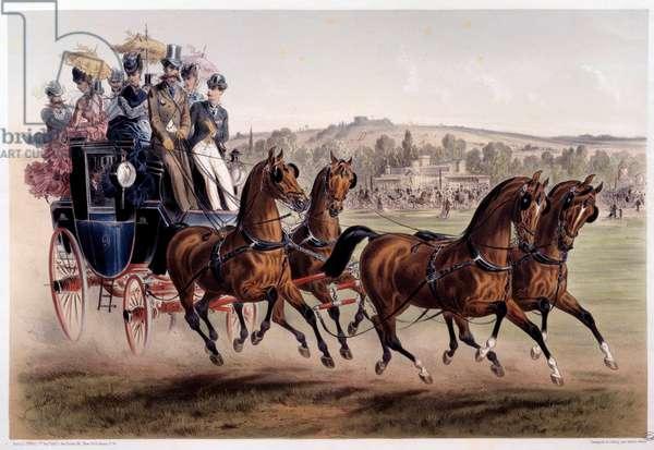 Mail coach, the return of races Print by Albert Adam (1833-?) 19th century Paris, Musee Carnavalet