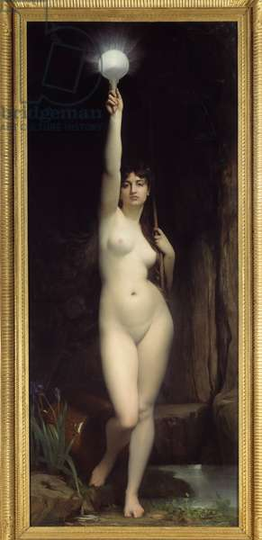The truth. Personification of the truth. Painting by Jules Lefebvre (1836-1911), 1870. Oil on canvas. Dim: 2.64 x 1.11m. Paris, Musee d'Orsay