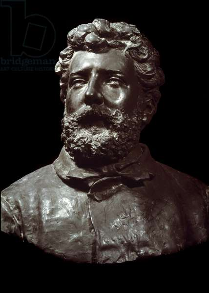 Bust in bronze by the French composer Georges Bizet (1838-1875) made by Dubois in 1876. Versailles, castle museum