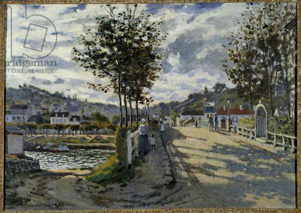Le pont de Bougival Painting by Claude Monet (1840-1926) 1869 Sun. 0,63x0,91 m Manchester. Currier Gallery Of Art