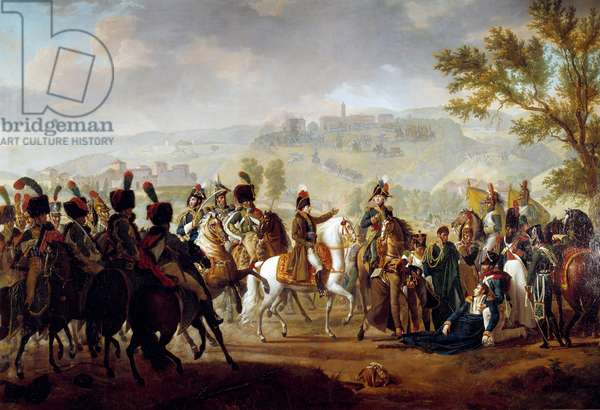 Death of General Causse at the Battle of Dego in the presence of Bonaparte April 16, 1796 Painting by Francois Mulard (1769-1850) 1812 Sun. 1,80 x 2,50 m