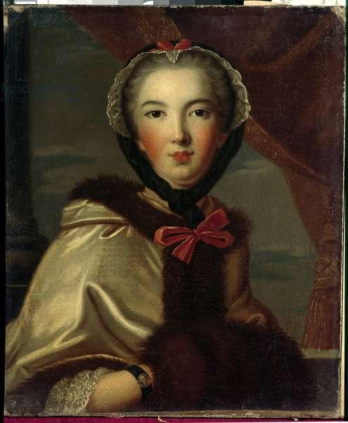 Portrait of Louise Henriette de Bourbon Conti, Mademoiselle de Conti, Duchess of Orleans (1752-1759) Anonymous painting of the 18th century. Dim. 0,7x0,6 m Versailles, musee du chateau.