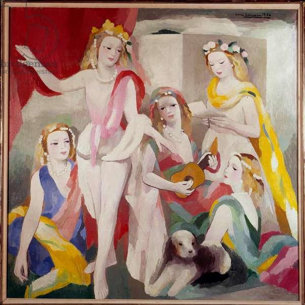 La repetition Peinture de Marie Laurencin (1883-1956) 1936 Paris, musee national d'art moderne