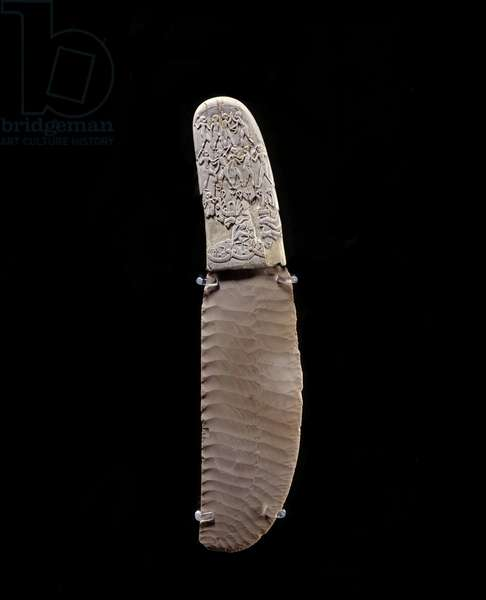 Egyptian antiquite: ivory knife carved from Gebel El Arak. 3400 BC. Paris, Louvre Museum