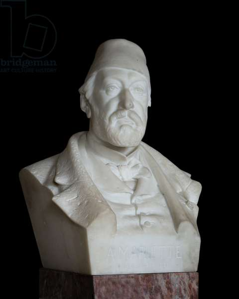 Bust of the Egyptologist Auguste Mariette dit Mariette Pacha (1821 - 1881) marble 19th century