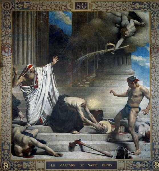 The Martyrdom of Saint Denis, Eveque of Paris Painting by Leon Joseph Bonnat (1833-1922) 19th century - Paris, Pantheon