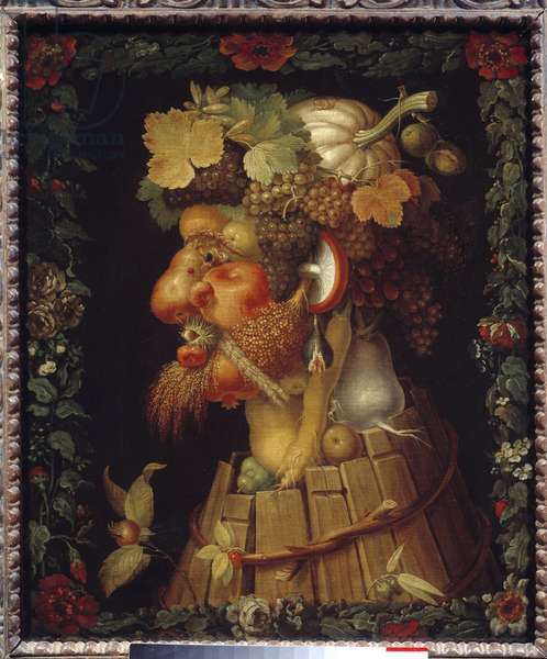 Autumn Painting by Giuseppe Arcimboldo (1527-1593) 16th century Sun. 0,76x0,63 m  - Autumn. Painting by Giuseppe Arcimboldo (1527-1593), 16th century. 0.76 x 0.63 m. Louvre Museum, Paris