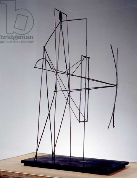 Figure. Sculpture by Pablo Picasso (1881-1973), 1928. Iron wire and tole. Paris, Musee Picasso.