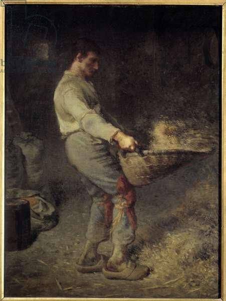 Le vanneur Painting by Jean Francois Millet (1814-1875) 1868 Sun. 0,79x0,58 m Paris, musee d'Orsay