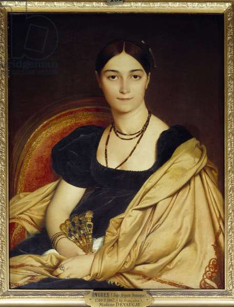 Portrait of Madame de Vaucay (or Devaucay) nee of Nittis, 1807. Painting by Jean Dominique Ingres (1780-1867), 1807. h s/t. Dim: 0.76 x 0.59m. Chantilly, Musee Conde