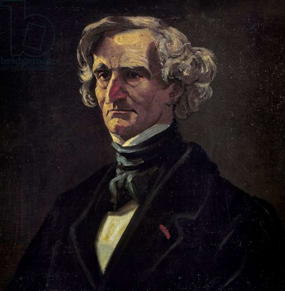 Portrait of Hector Berlioz (1803-1869), French composer. detail of the Painting by Andre Gill (1840-1885), 19th century. Oil on canvas. Dim: 1,15 X 0,82m. Versailles, Musee Du Chateau