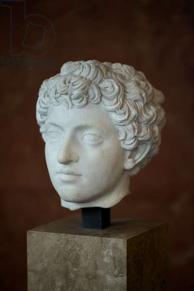 Art Rome Head of the Roman Emperor Mark Aurele Young (121 - 180 AD) Marble