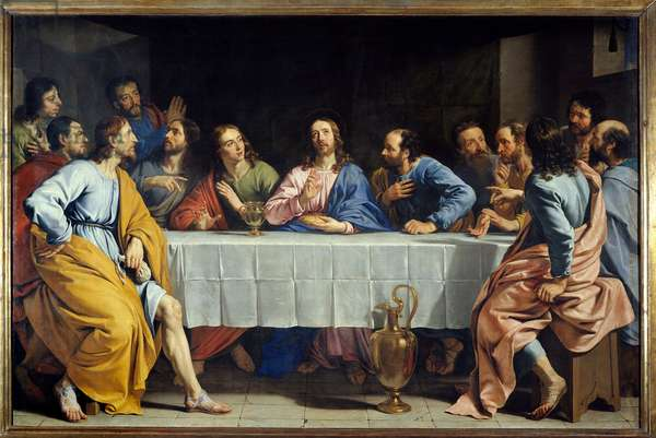 The Last Supper. Painting by Philippe de Champaigne (1602-1674).