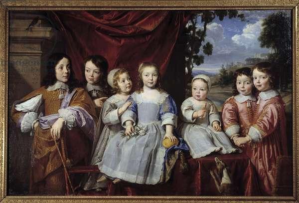 The children of Henri Louis Habert de Montmort (Henri-Louis Habert de Montmor) (1600-1679) Painting by Philippe de Champaigne (1602-1674) 1649 Reims. Museum of Fine Arts