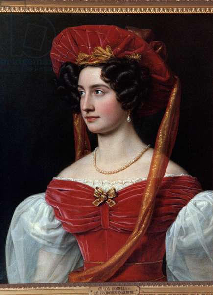 Portrait of Woman with Red Hat Painting by Joseph Karl Stieler (1781-1858) 19th century. Munich, Chateau De Nymphenburg