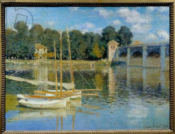 Le pont d'Argenteuil Painting by Claude Monet (1840-1926), 1874 Sun. 0,6x0,8 m. Paris, Musee d'Orsay