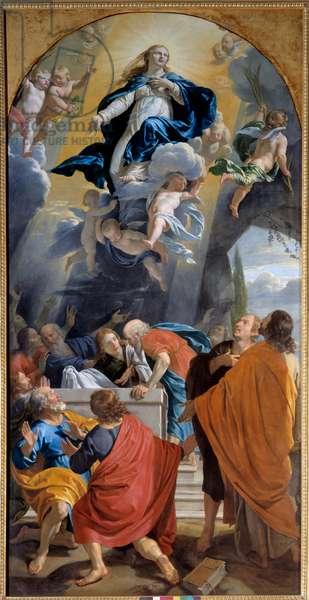 Assumption. Painting by Philippe De Champaigne (1602-1674), 1640. Dim: 3,51 x 1,79m. Grenoble, Museum of Fine Arts