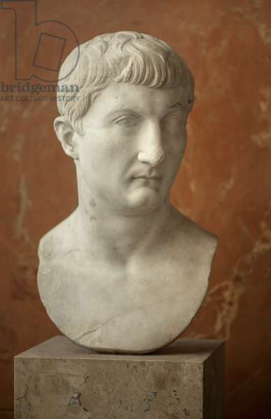 Art Rome Bust of Drusus the Young (13 BC - 23 AD) marble