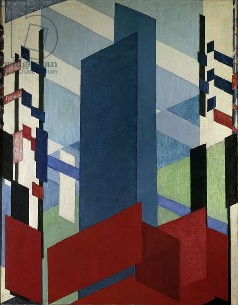 Philosophical Architecture Painting by Franck Kupka (1871-1957), 20th century Private Collection