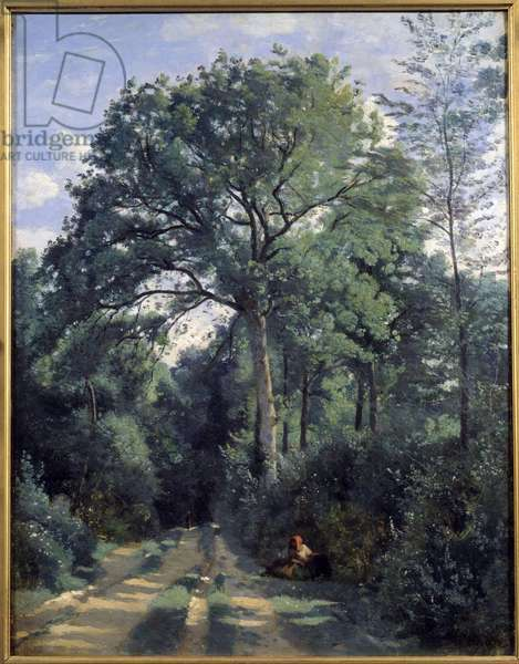 City of Avray, Entring the Wood with Coach Painting by Camille Corot (1796-1875) 1924 Edinburgh, national gallery