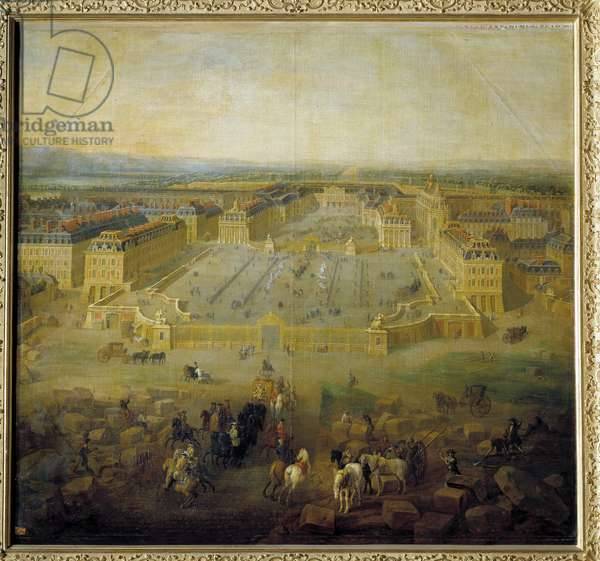 View of the castle of Versailles from the coast of the Place d'Armes Painting by Pierre Denis Martin (1663-1742) 1722. Dim. 1,39 x 1,50 m