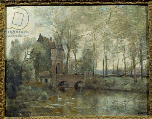 The castle of Wagnouville. Painting by Camille Corot (1796-1875), 19th century. Oil on canvas. Inv. 2936) Douai, Musee De La Chartreuse