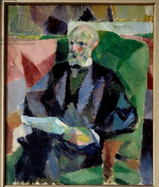 Portrait of the artist's father Painting by Jacques Villon (1875-1963) 1913 Sun. 0,61x0,4 m Rouen, musee des Beaux Arts
