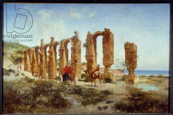 The Roman aqueduct in Cherchell (Algeria). Painting by Victor Pierre Huguet (1835-1902), 19th century. Rouen, Museum of Fine Arts
