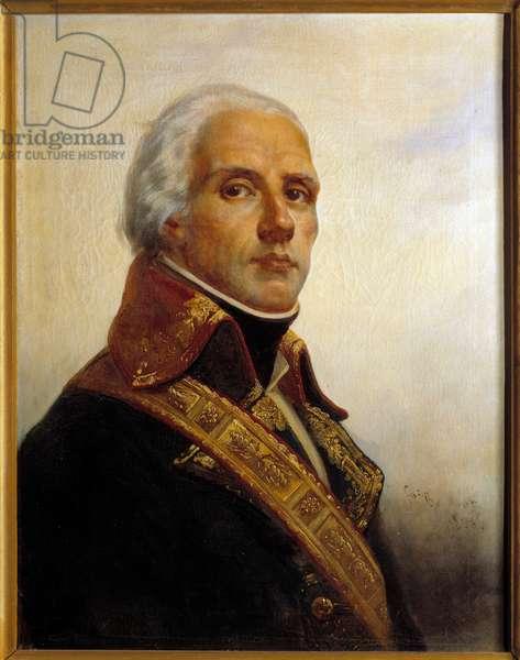 Portrait of Joseph Christophe Coquille Dugommier (1736-1794) Painting by Francois Bouchot (1800-1842) 1836 Sun. 0,72 x 0,55 m