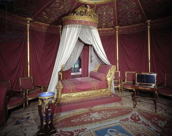 View of the room of the Impress Josephine de Beauharnais (Marie-Joseph-Rose de Tascher de la Pagerie) (1763-1814) at the Chateau de Malmaison.