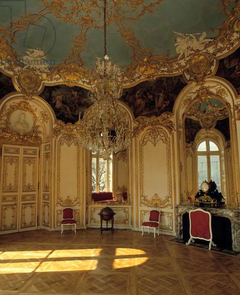 Internal architecture: apartment of the princess of Soubise realized by architect Germain Boffrand (1667-1754) in Paris.