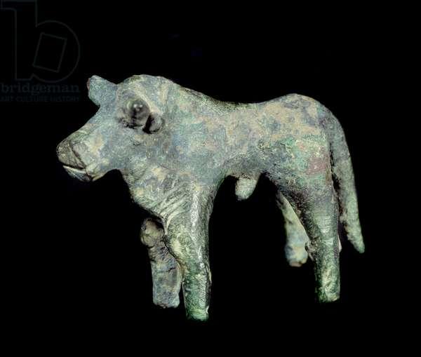 Iberic civilization: bronze bull. Paris, Musee Picasso