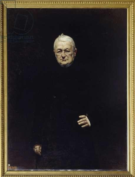 Portrait of Adolphe Thiers (1797-1877) President of the Republic Painting by Leon Joseph Bonat (1833-1922) 19th century Sun. 1,15x0,92 m.