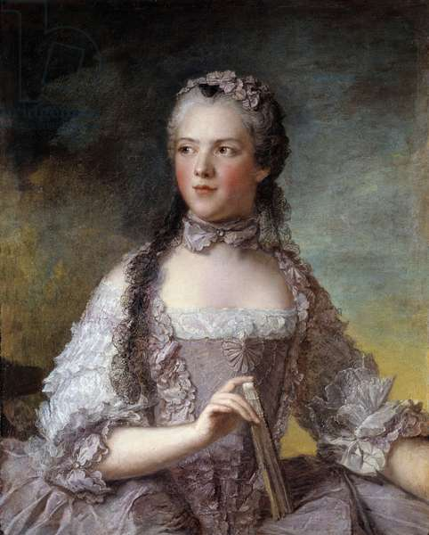 Portrait of Madame Adelaide of France (1732-1800), daughter of King Louis XV Painting by Jean-Marc (Jean Marc) Nattier (1685-1766) 1749 Sun 0,81x0,64 m  - Portrait of Madame Adelaide de France (1732-1800), daughter of King Louis XV. Painting by Jean-Marc (Jean Marc) Nattier (1685-1766), 1749. 0.81 x 0.64 m.
