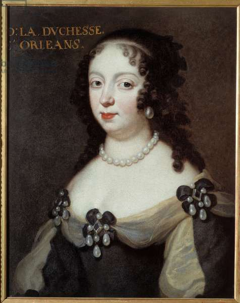 Portrait of Charlotte Elisabeth de Baviere (1652-1722) Duchess of Orleans called Madame Palatine. Anonymous painting of the 17th century. Oil on canvas. Meaux, Musee Bossuet - Portrait of Charlotte Elisabeth of Bavaria (1652-1722), Princess Palatine and Duchess of Orleans, known as Madame Palatine. Anonymous painting of the 17th century. Oil on canvas. Bossuet Museum, Meaux, France