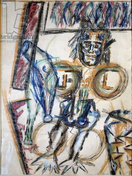 L'inca Painting by Antonin Artaud (1896-1948) 1946 Paris, National Museum of Modern Art
