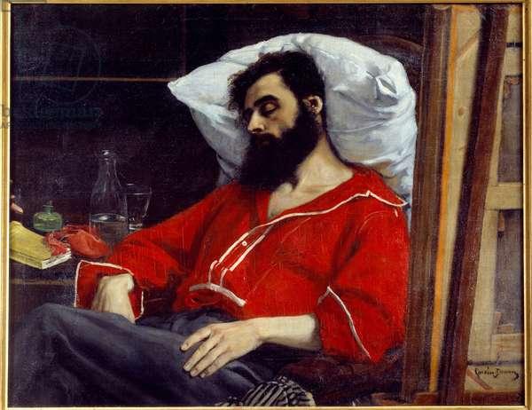 He convalescent or hurt him. Painting by Emile Auguste Carolus Duran (Carolus-Duran, 1837-1917), 19th century. Oil on canvas. Dim: 0.99 x 1.26. Paris, Musee d'Orsay