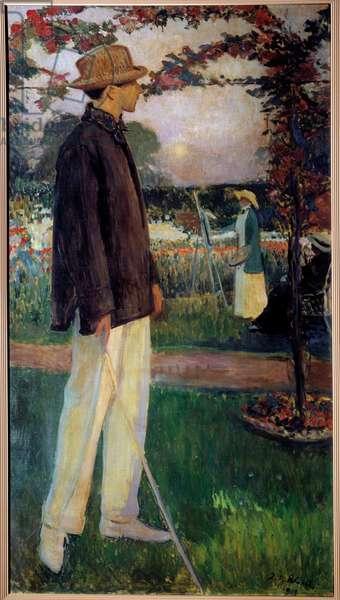 Portrait in Foot of Jean Cocteau (1889-1963) Writer, 1913 (oil on canvas)