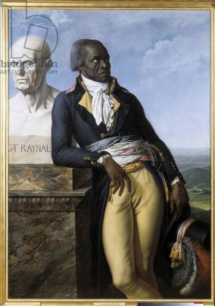 "French Revolution: """" Portrait of Jean Baptiste Belley, Depute of Santo Domingo (Santo Domingo) at the Convention (1747-1805)"""" Painting by Anne Louis Girodet de Roucy-Trioson (Anne-Louis Girodet de Roucy Trioson, 1767-1824) 1797 Sun. 1,58x1,11 m. Versailles, musee du chateau French Revolution: """" Portrait of Jean Baptiste Belley, Deputy of Saint Domingue (Saint-Dominique) and Convention member (1747-1805)"""". Painting by Anne Louis Girodet de Roucy-Trioson (Anne-Louis Girodet de Roucy Trioson, 1767-1824), 1797. 1,58 x1,11 m. Castle Museum, Versailles, France"