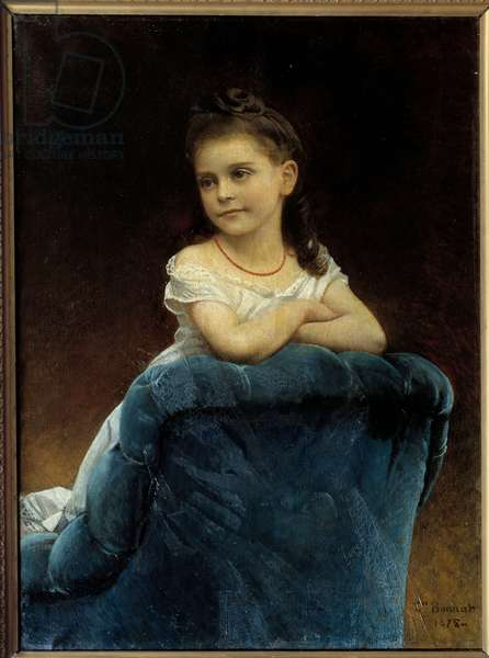 Portrait of Miss Franchetti Painting by Leon Bonnat (1833-1922) 1877 Sun. 0,89x0,65 m Bayonne, Musee Bonnat